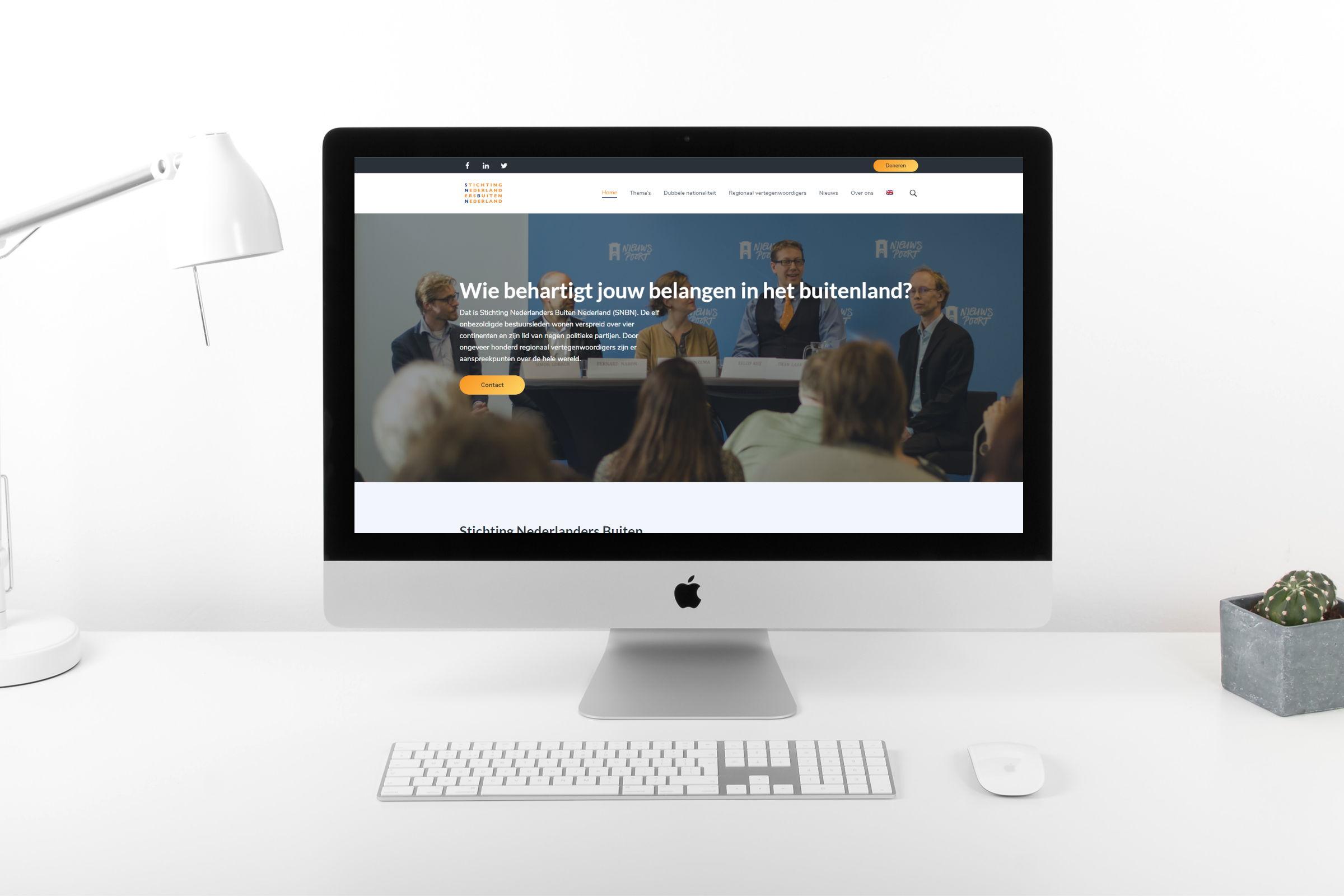 SNBN homepage mockup