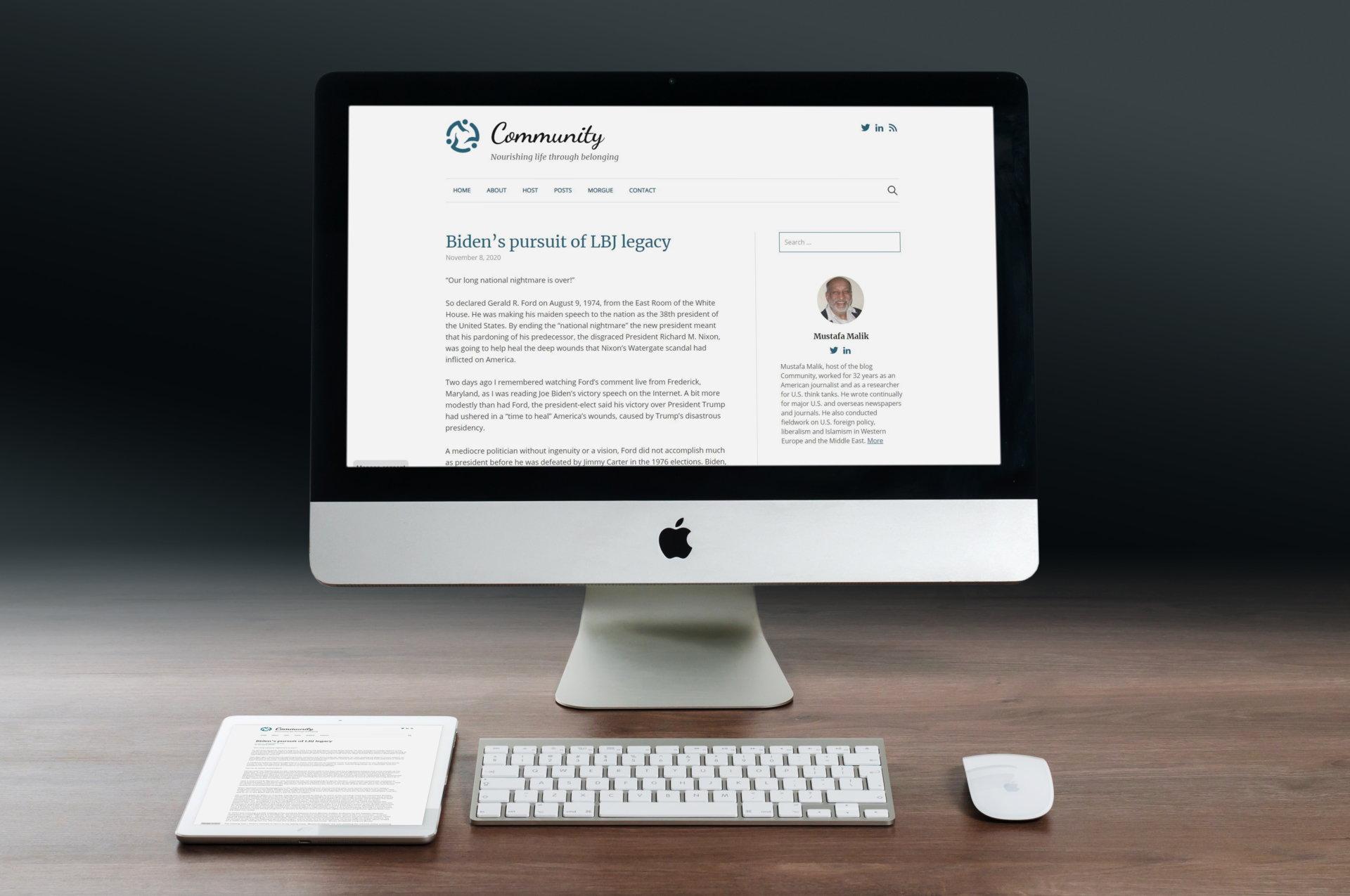 Homepage Mockup Community