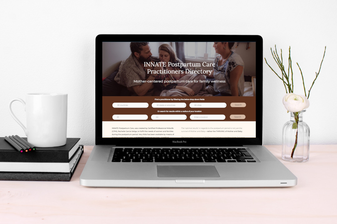 Mockup of Innate Traditions Directory site